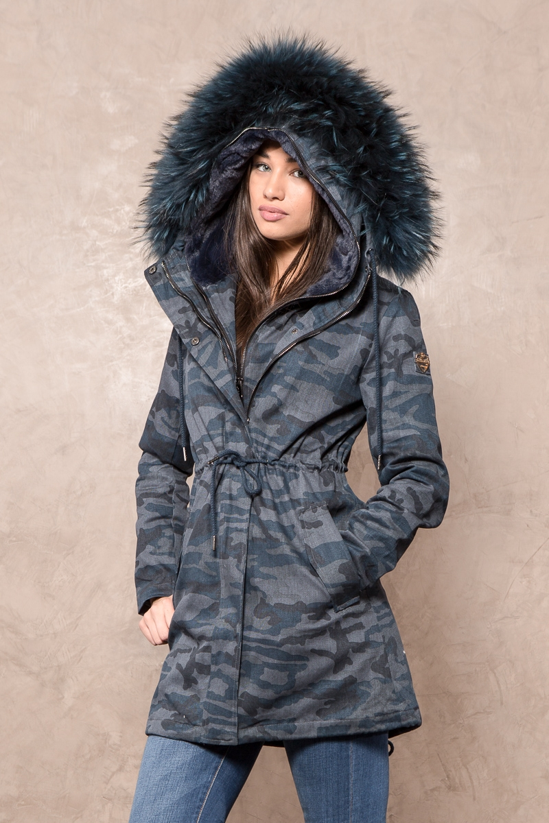 Women's parkas with fur hood